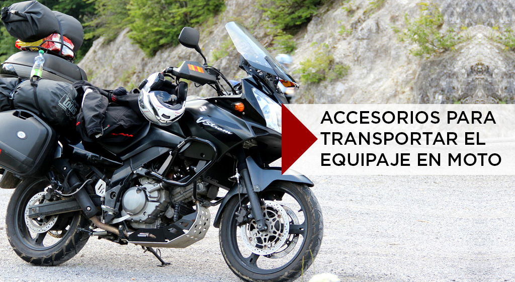 accesorios para transportar el equipaje en moto pasión biker