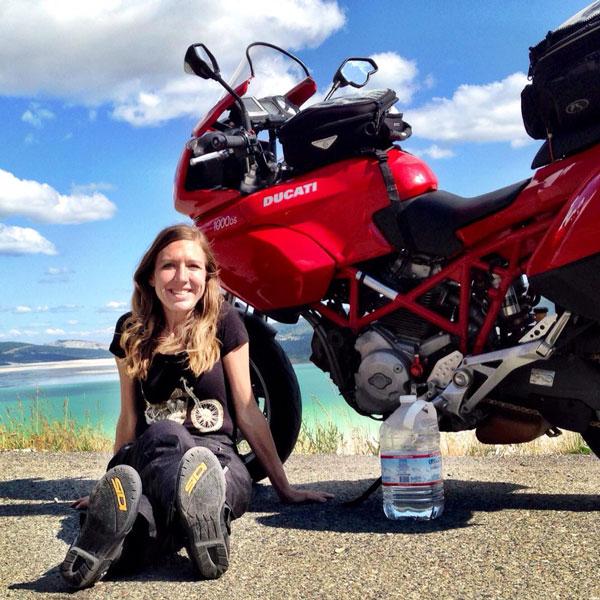 Hidratado en moto