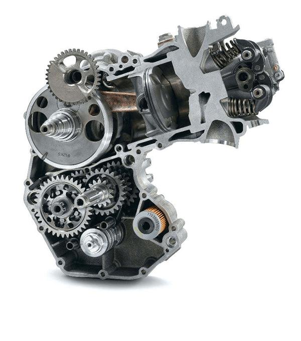 El motor de una Motocicleta