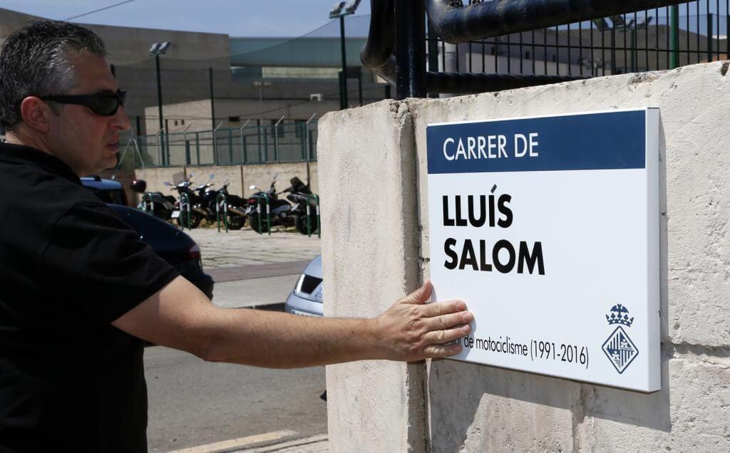 Luis Salom homenajeado